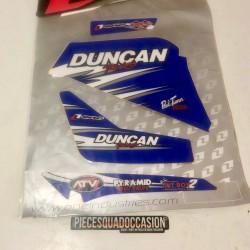 kit deco + housse de selle quad 200 blaster (duncan bleu)